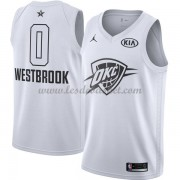 Maillot NBA Pas Cher Oklahoma City Thunder Russell Westbrook 0# White 2018 All Star Game Swingman..
